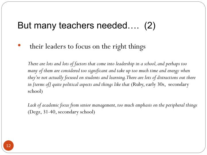 But many teachers needed….  (2)