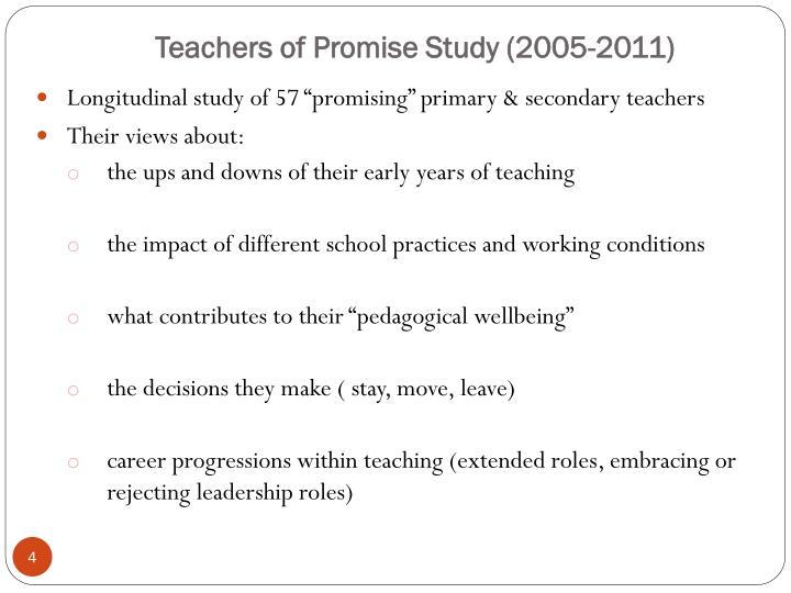Teachers of Promise Study (2005-2011)