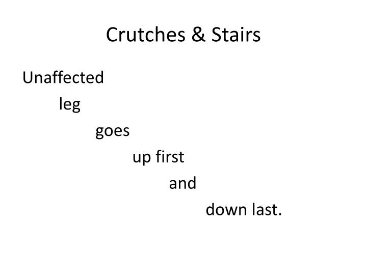 Crutches & Stairs