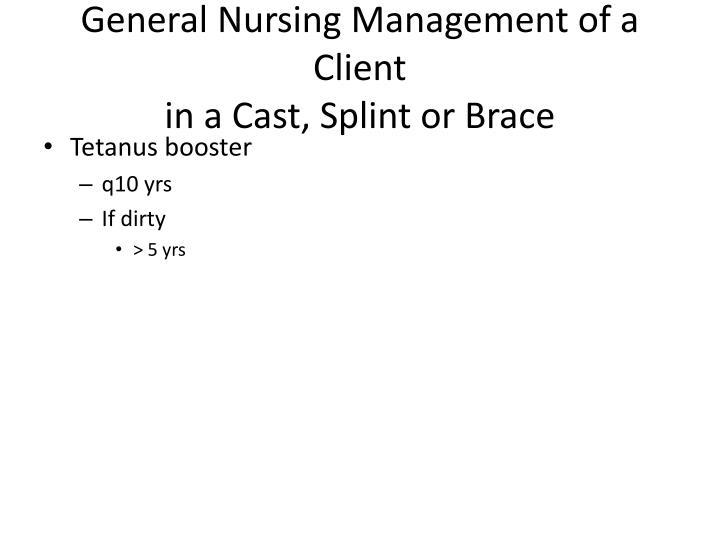 General Nursing Management of a Client