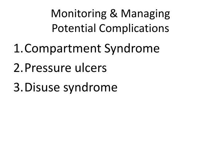 Monitoring & Managing