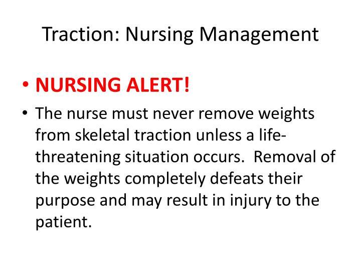 Traction: Nursing Management
