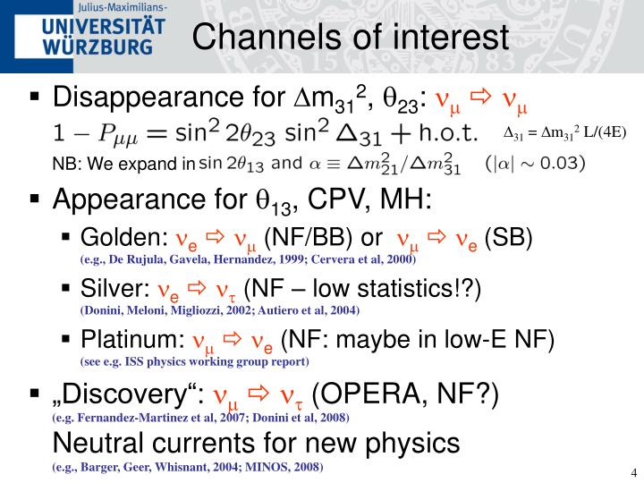 Channels of interest