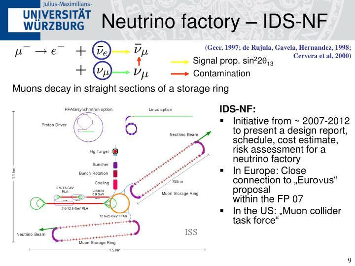 Neutrino factory – IDS-NF