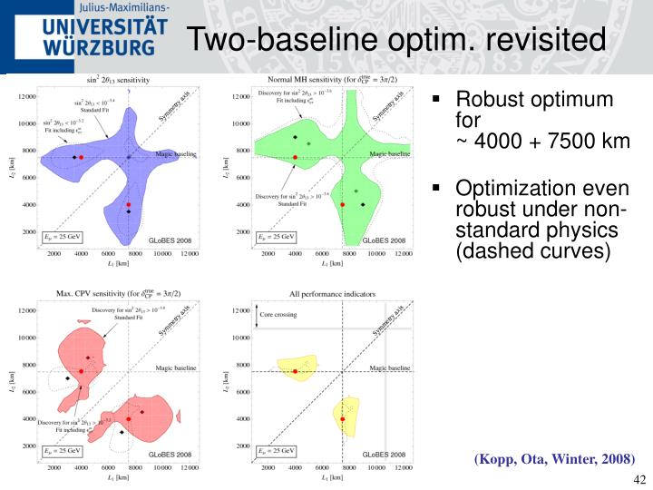 Two-baseline optim. revisited