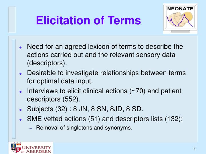 Elicitation of terms