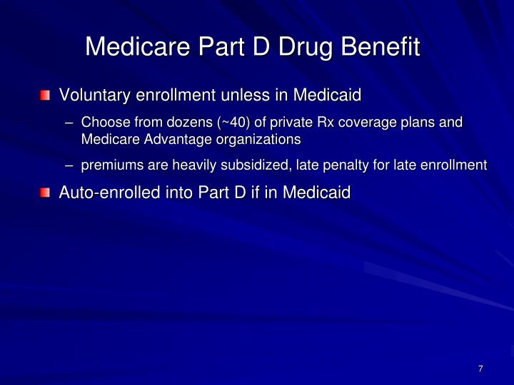 Medicare Part D Drug Benefit
