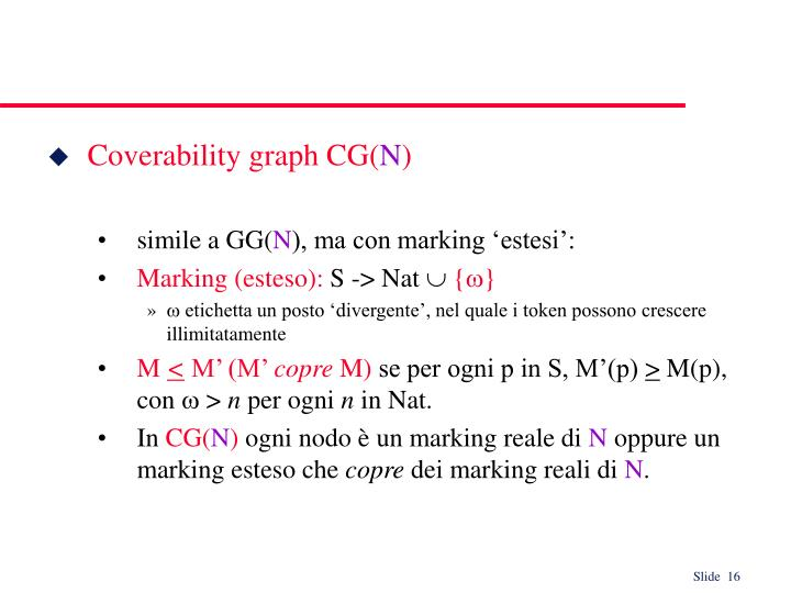 Coverability graph CG(