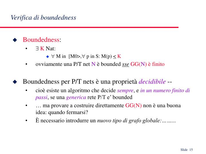 Verifica di boundedness
