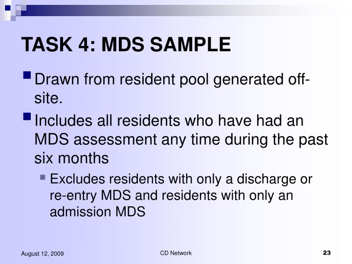 TASK 4: MDS SAMPLE