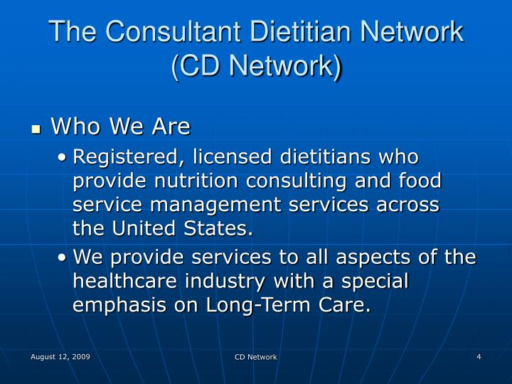 The Consultant Dietitian Network