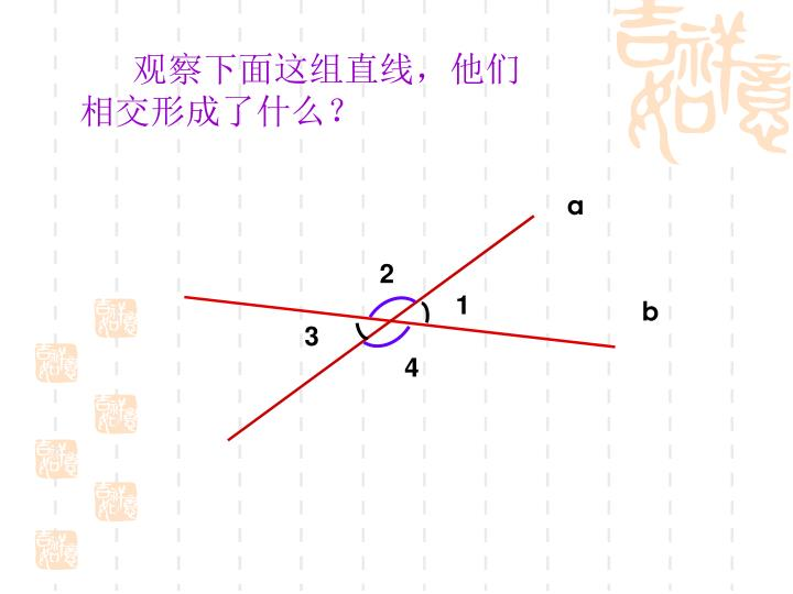 观察下面这组直线,他们相交形成了什么?
