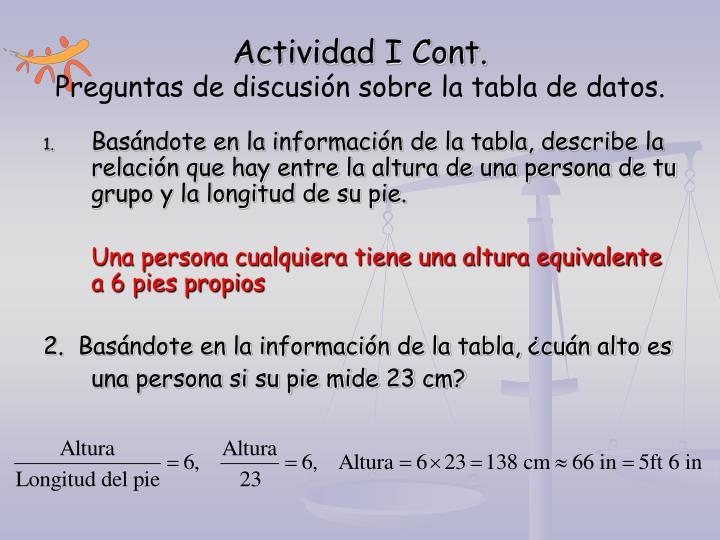 Actividad I Cont.