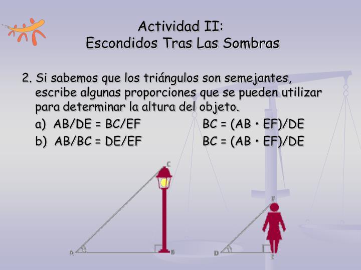 Actividad II: