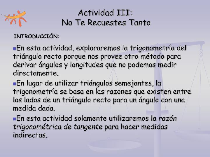 Actividad III: