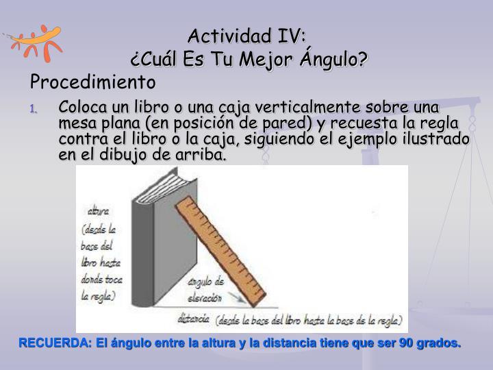 Actividad IV: