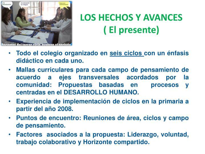 LOS HECHOS Y AVANCES