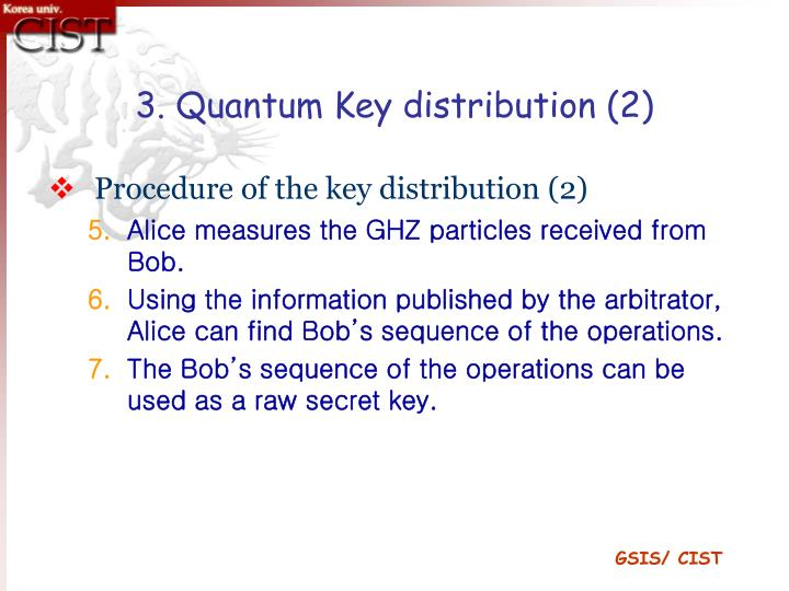 3. Quantum Key distribution (2)