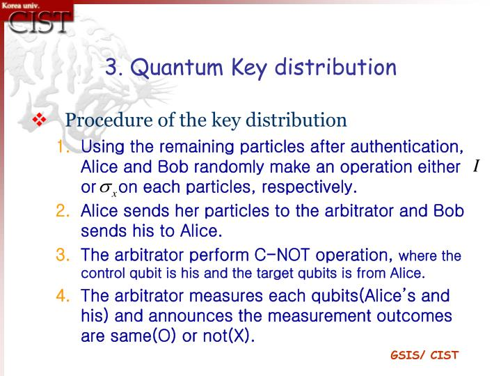 3. Quantum Key distribution
