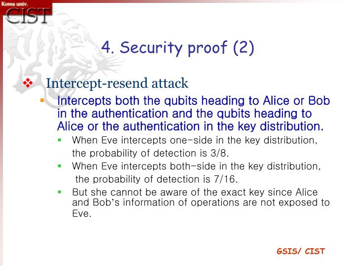 4. Security proof (2)