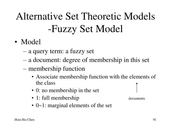 Alternative Set Theoretic Models