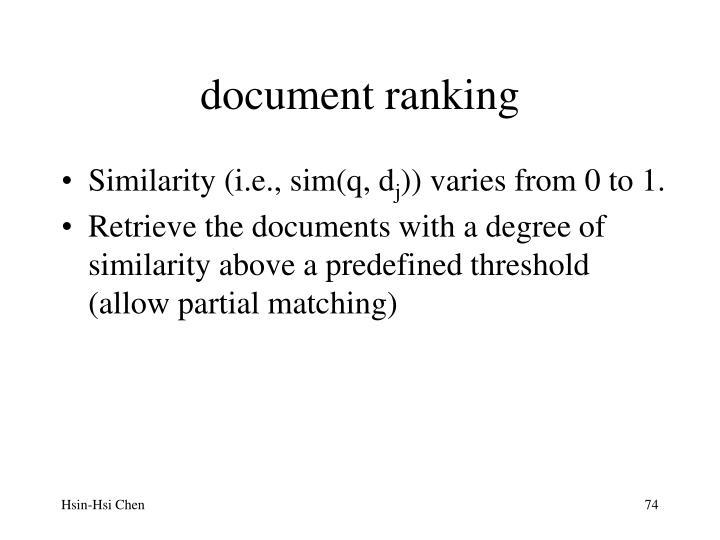 document ranking