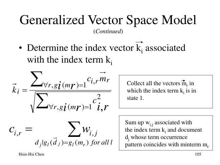 Generalized Vector Space Model