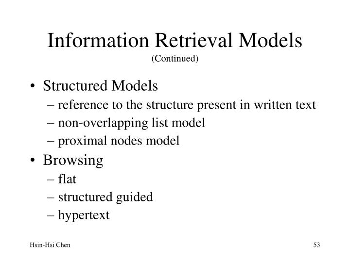 Information Retrieval Models