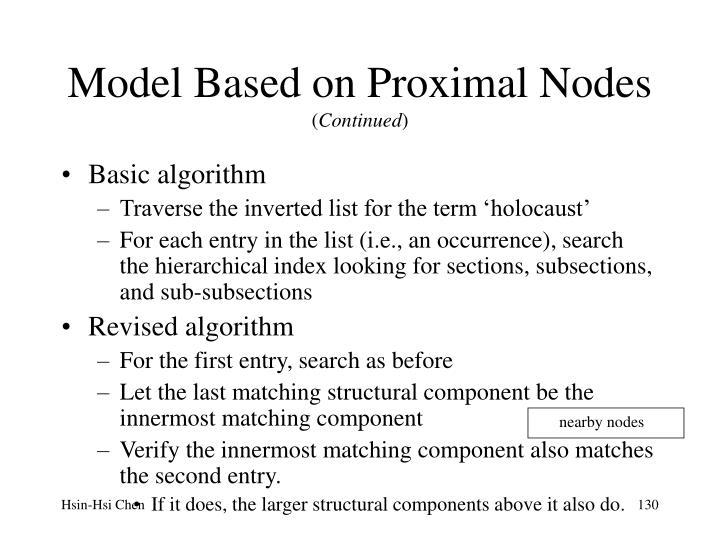 Model Based on Proximal Nodes