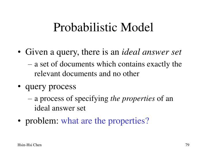 Probabilistic Model