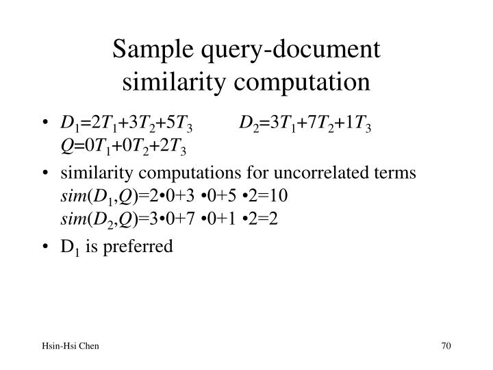 Sample query-document
