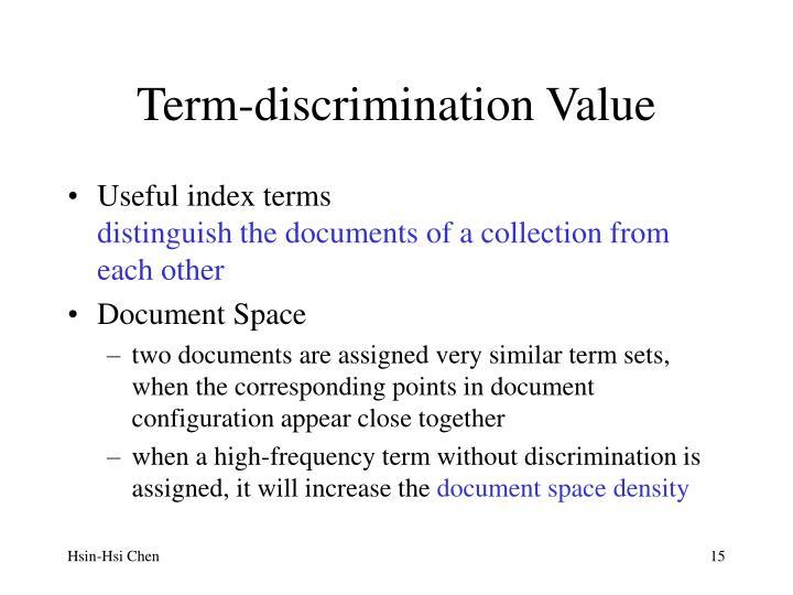 Term-discrimination Value