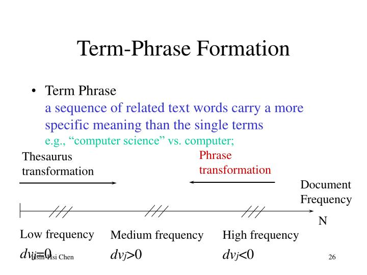Term-Phrase Formation