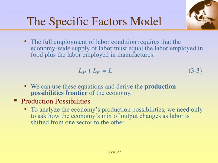 The Specific Factors Model