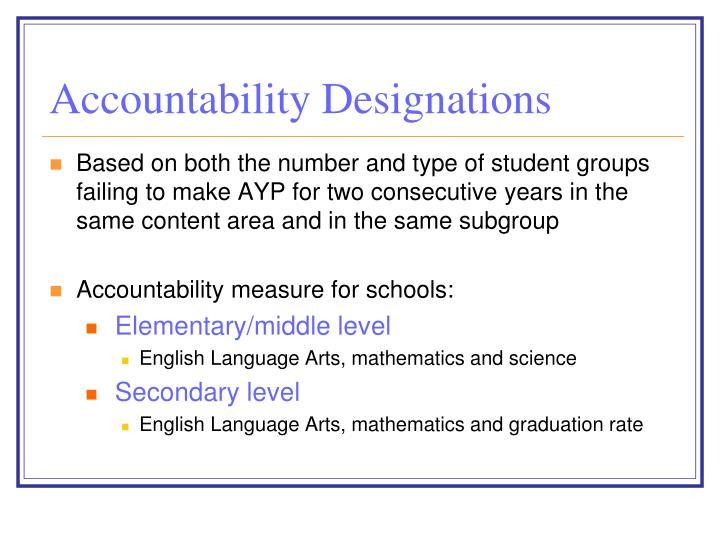 Accountability Designations