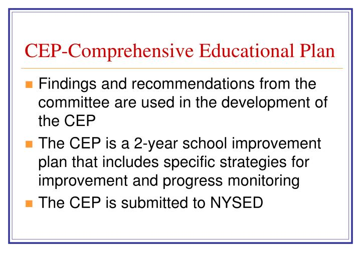 CEP-Comprehensive Educational Plan