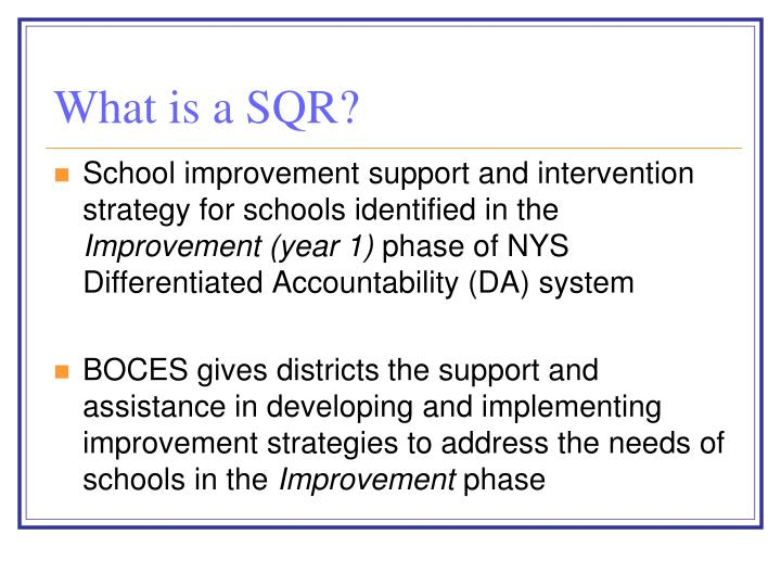 What is a SQR?