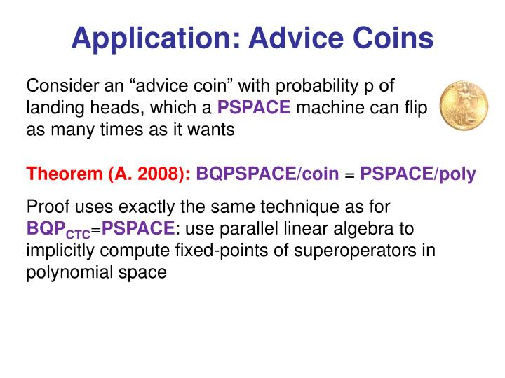 Application: Advice Coins