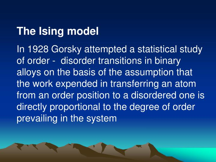 The Ising model