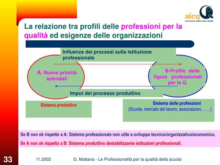 Influenza dei processi sulla istituzione professionale