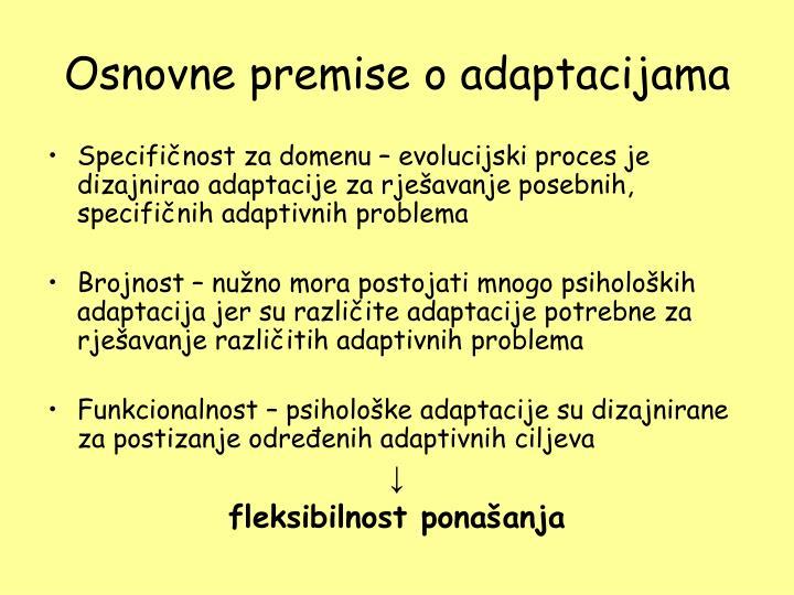 Osnovne premise o adaptacijama