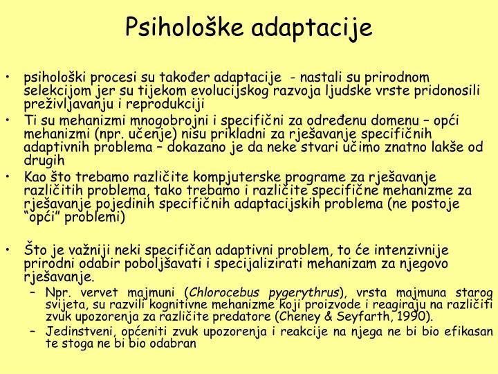 Psihološke adaptacije