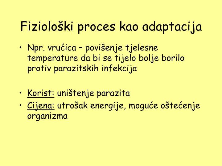 Fiziološki proces kao adaptacija