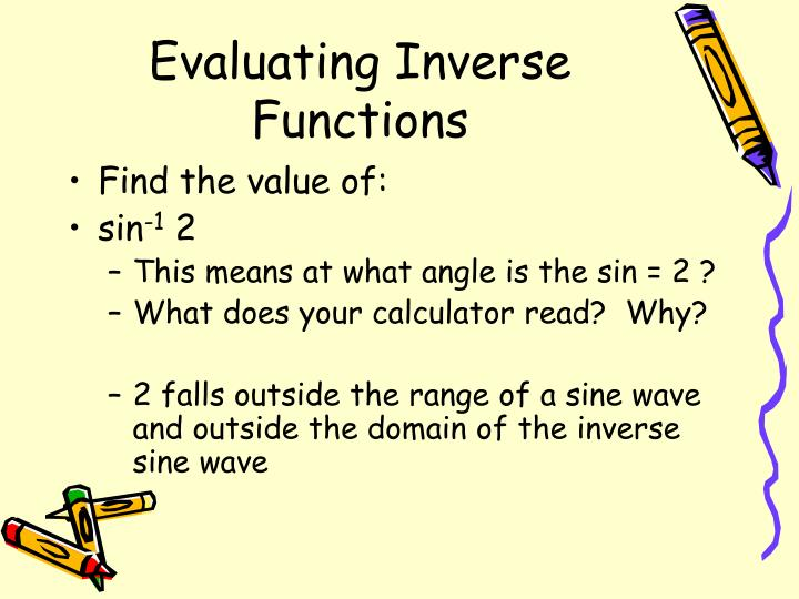 Evaluating Inverse Functions