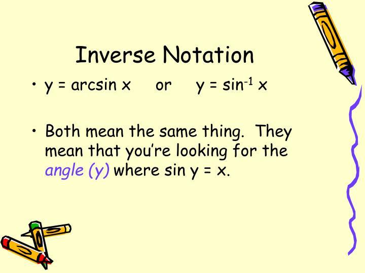 Inverse Notation
