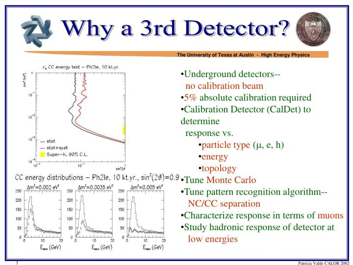 Why a 3rd Detector?