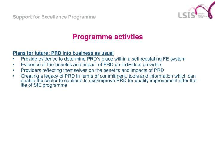 Programme activties