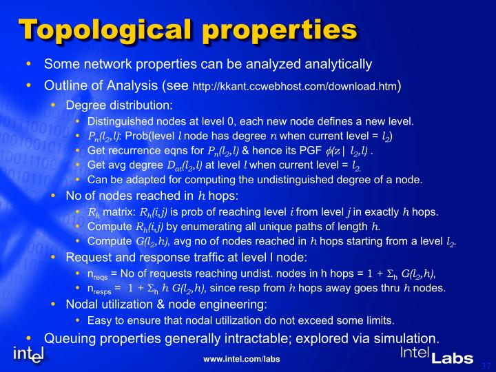 Topological properties