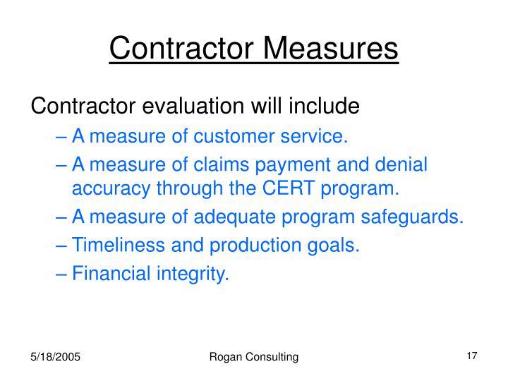 Contractor Measures