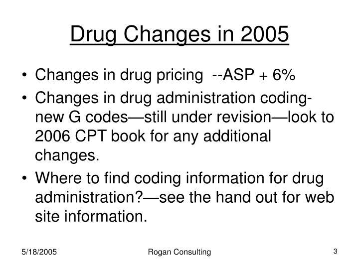 Drug Changes in 2005